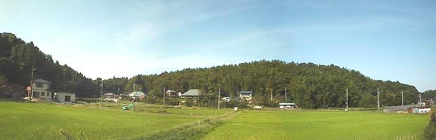 本佐倉城の遠景