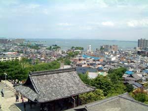 園城寺より琵琶湖を望む