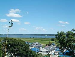 臼井城より印旛沼